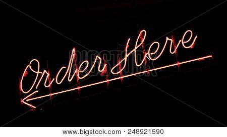 Strong Storefront Advertising Design Texture Glowing Red Technology