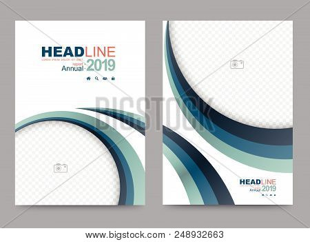 Cover Template For Brochure And Use In Presentation Templates, Flyer And Leaflet, Corporate Report,