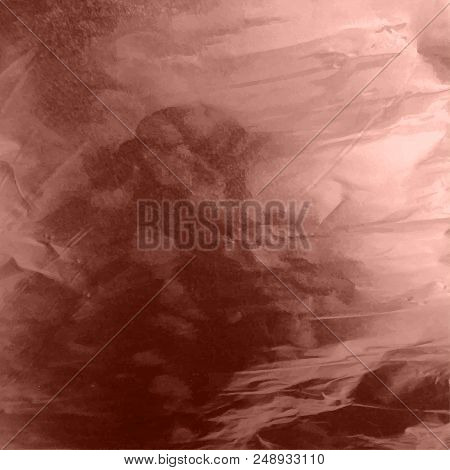 Stock Vector Illustration Shiny, Sparkly Copper Leaf. Metal Foil Texture Isolated On Gray Background