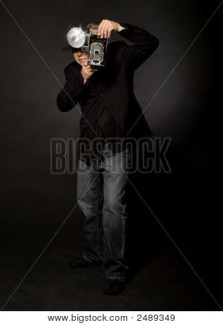 Retro-Stil Fotograf