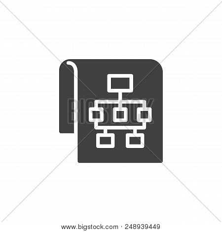 Sitemap Vector Icon. Filled Flat Sign For Mobile Concept And Web Design. Flow Chart Simple Solid Ico