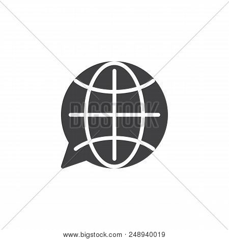Translation Globe Vector Icon. Filled Flat Sign For Mobile Concept And Web Design. Language Choose S