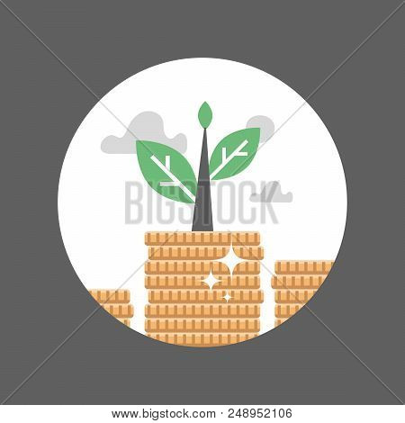 Coin Stack, Plant Growth, Finance Long Term Investment, Pension Fund, Superannuation, Stock Market,