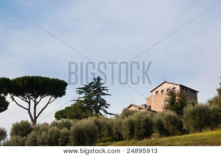 Roman Church On Palatine Hill.