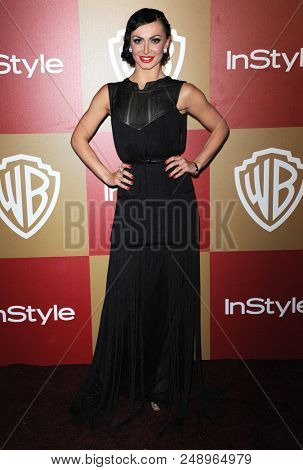 LOS ANGELES - JAN 13:  Karina Smirnoff arrives to the WB/In Style Golden Globe Party  on January 13, 2013 in Hollywood, CA