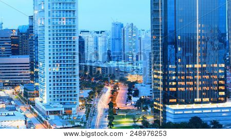 Tall business buildings in Sao Paulo,Brazil.On May 03, 2015 Sao Paulo, Brazil.