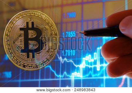 Photo Of Bitcoin Currency And Stock Chart