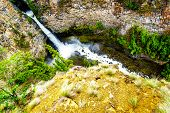 Spahats Falls on Spahats Creek in Wells Gray Provincial Park at Clearwater in beautiful British Columbia, Canada poster