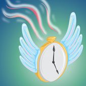 conceptual design of time flying away. poster