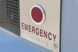 Close-up View Of Emergency Button For Requesting Immediate Assistance