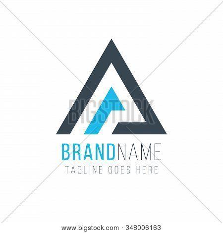 Letter A Or Delta Geometric Triangle Logo Design. Business Identity Tech Element. Stock Vector Illus