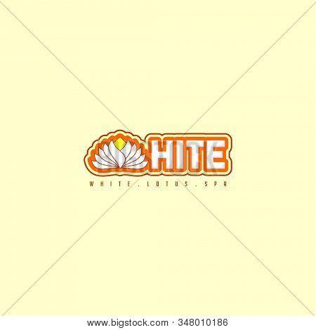 Typography For White Lotus Vector Illustration For Logo Template Design