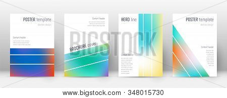 Flyer Layout. Geometric Ecstatic Template For Brochure, Annual Report, Magazine, Poster, Corporate P