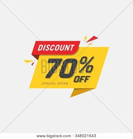 Sales Vector Badges For Labels, Percent Sale Label Symbols, Tags, Web Stickers, Discount Origami Sig