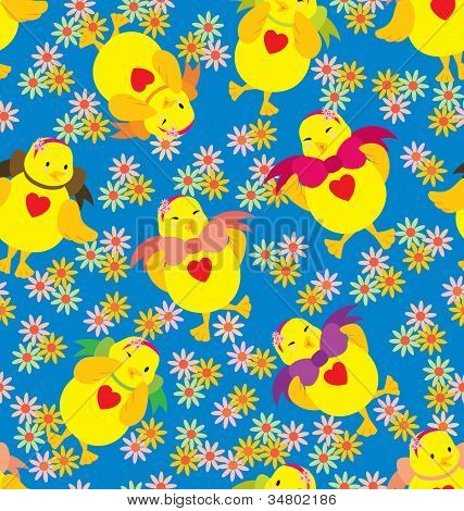 Happy Chick Pattern