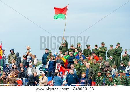 Tyumen, Russia - August 10, 2019: International Army Games. Engineering Formula Contest. Belarusian