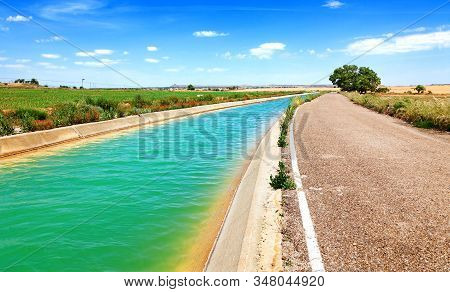 Agricultural And Countryside Infrastructures.irrigation Channel And Fields