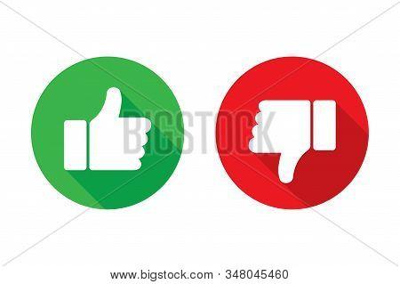 Thumb Up Thumb Down Vector Isolated Icons. Social Media App. Design Element Set. Feedback Sign. Posi
