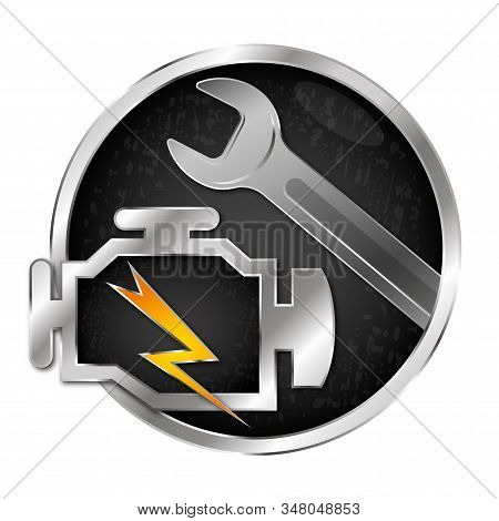 Car Engine Repair And Service Wrench Symbol