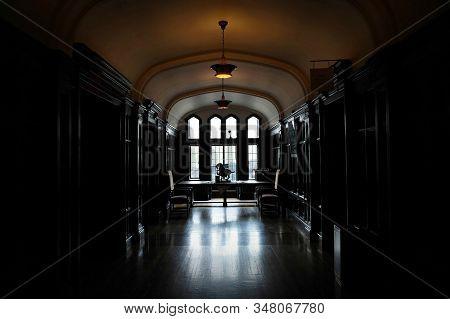 Toronto, Canada - 06 20 2016: Part Of Casa Loma Interior. Casa Loma Is A Gothic Revival Castle-like