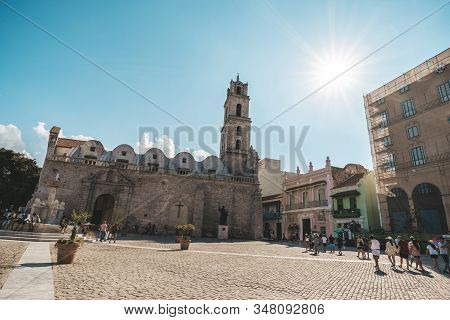 November 27, 2019, Havana, Cuba: The Basilica And The Monastery Of San Francisco De Asis Or Saint Fr