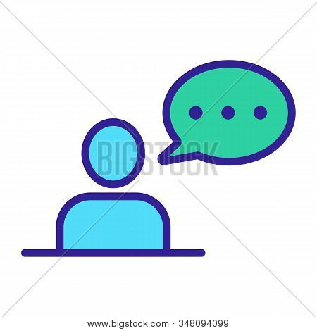 Man Speaks Icon Vector. Thin Line Sign. Isolated Contour Symbol Illustration