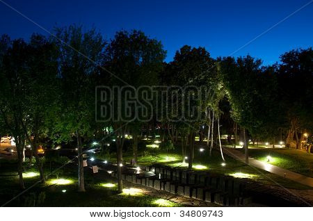 Park With Memorial Monuments To The Holodomor Victim