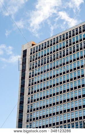 Modern glass office building windows