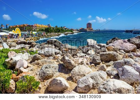 Willemstad, Curacao, Netherlands - December 5, 2019: The Island Curacao Is A Tropical Paradise In Th