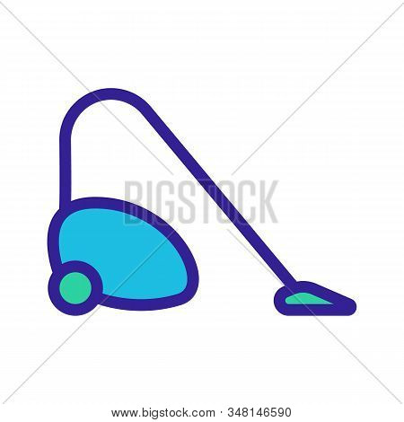 Vacuum Cleaner For Cleaning The Vector Icon. A Thin Line Sign. Isolated Contour Symbol Illustration