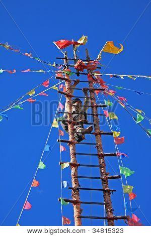 Naxi Ethnic Ladder Climbing
