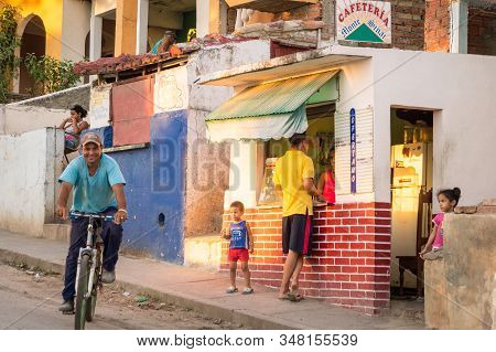 Trinidad, Cuba On December 29, 2015: There Are Government Run Restaurants For The Locals Around Wher