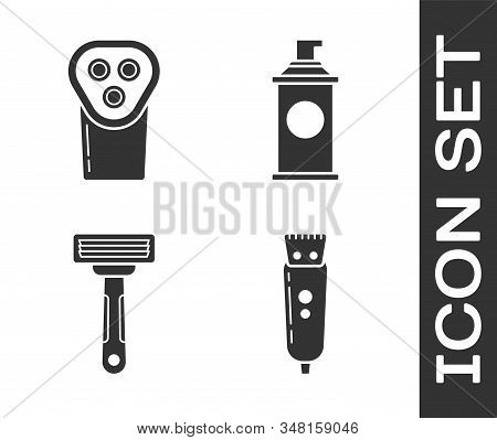 Set Electrical Hair Clipper Or Shaver, Electrical Hair Clipper Or Shaver, Shaving Razor And Shaving