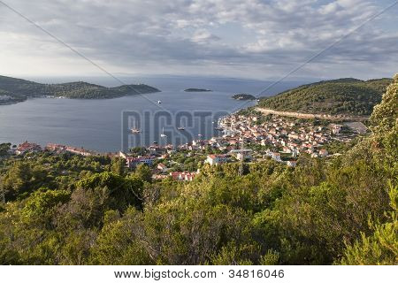 Panoramic View Of The Town Of Vis