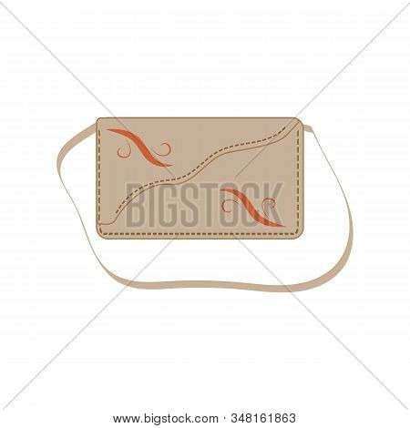 Stylish Womens Handbag -for Shipping Shopping. Trendy Leather Accessories Of Different Types Isolate