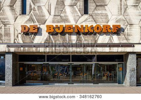 Rotterdam, Netherlands - September 11, 2015: De Bijenkorf Department Store In Rotterdam Designed By