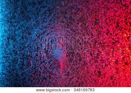 Blue-pink Photo Fantastic Web On A Light Background. Background Concept And Abstract Wallpaper. Adve