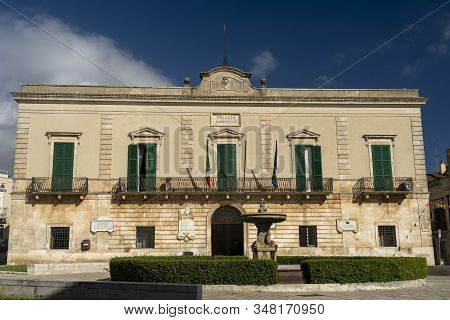 Santeramo In Colle, Bari, Apulia, Italy: Buildings Of The Historic City. Townhall