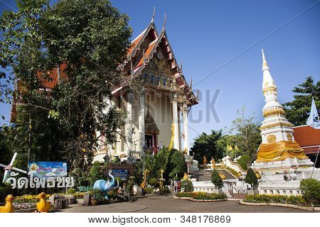 Thai People And Foreign Travelers Travel Visit And Respect Praying Luang Phra Sai Buddha Statues At