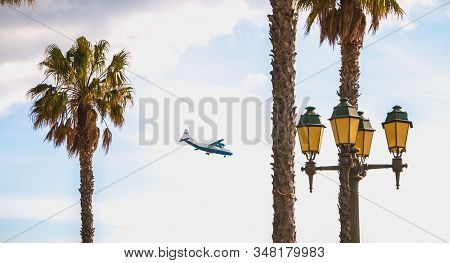 Aerov Airlines Antonov An-12 A Plane On Approach To Faro International Airport