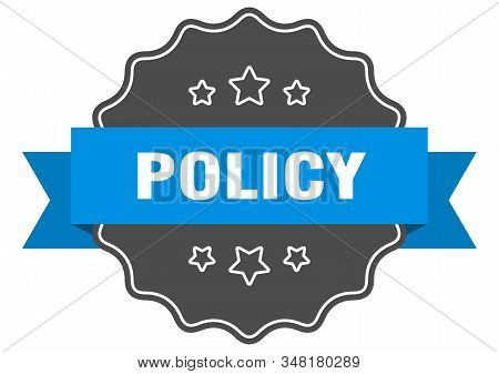 Policy Blue Label. Policy Isolated Seal. Policy
