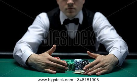 Croupier Taking All Win Away From Casino Player, Misfortune And Bankruptcy
