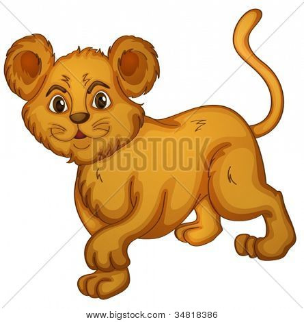 illustration of a cub on a white background