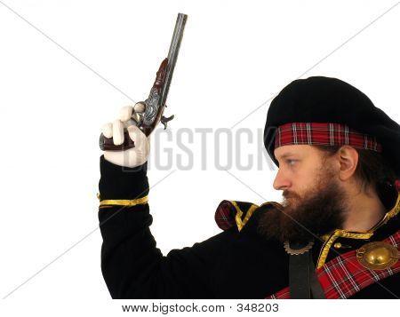 Scottish Warrior With Pistol