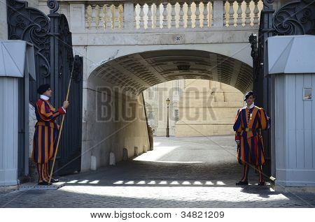 Swiss Guard on Duty Vatican City