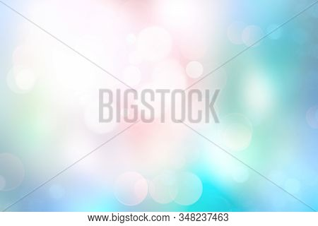 Pink Blue Green Colorful Soft Lights Bokeh.magic Winter Backdrop,de Focused Glowing Underwater Textu