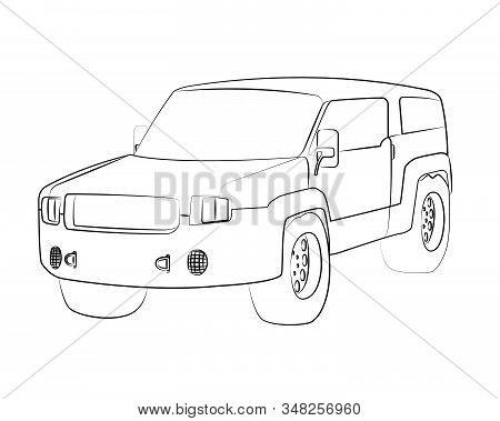Sport Utility Vehicle Vector Illustration Isolated No Background