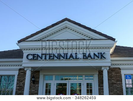 Orlando, Fl/usa-1/29/20: The Exterior Of A Centennial Bank Building Which Is Owned By Home Bancshare