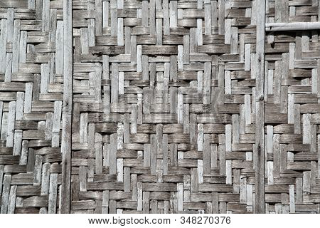 Old Bamboo Wood Walls Background And Texture Made Of Bamboo Wood.