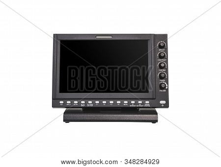 Digital Monitors For The Movie Film Industry Television And Broadcasting Isolated On White Backgroun